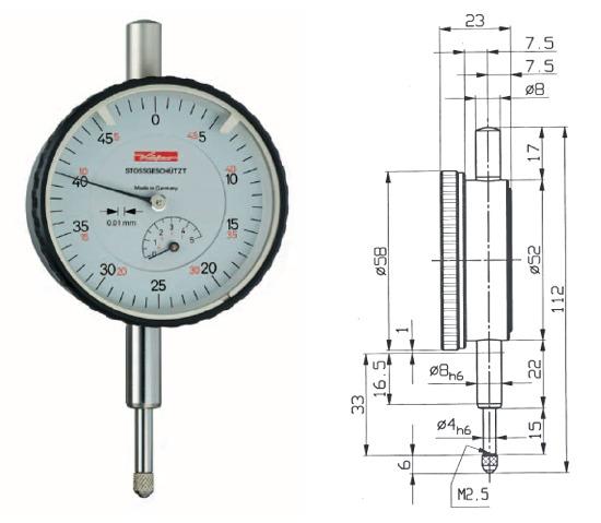 Digitale Messuhr 0,0005 mm Messuhr Messuhr 0-12,7 mm 0,5 mm Messuhr Elektronische Messuhr DTI 0,01 mm