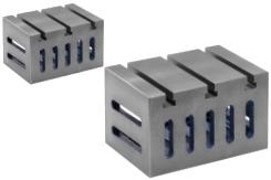 Aufspannwürfel für Mehrfachspanner mit Spannschlitzen und T-Nuten nach DIN 876
