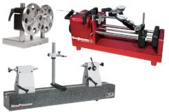 Rundlaufprüfgeräte mit Granit-Basis oder Stahl-Basis mit Reitstöcken oder Abrollböcken (spitzenlos). Individuell zusammenstellbar